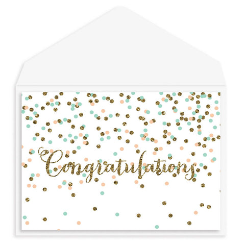 Confetti Congratulations Card