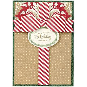 kraft gift christmas card