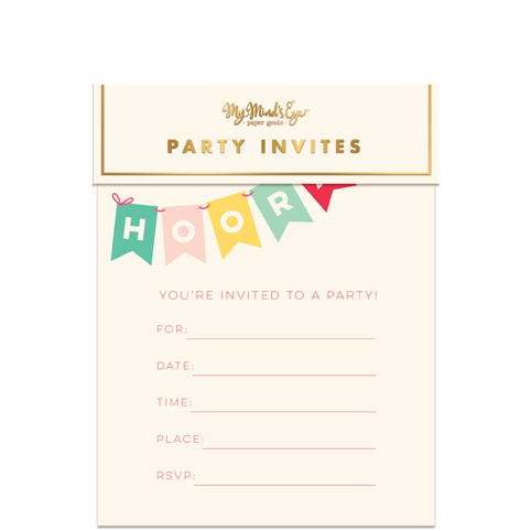 Hooray Party Invitations