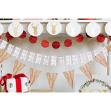 Red Circle Glitter Mini Banner