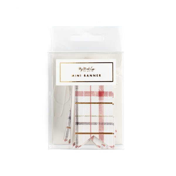 Christmas Plaid Mini Tag Banner