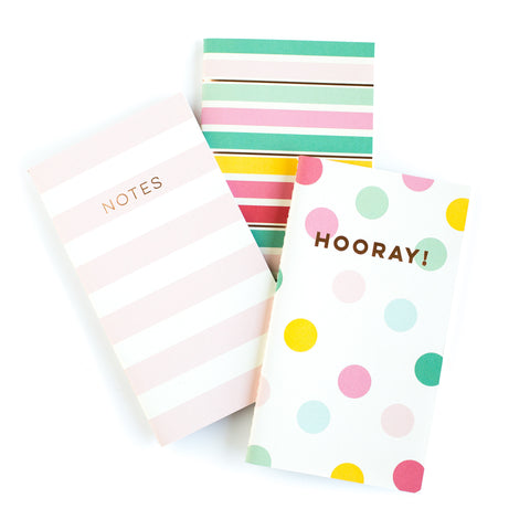 Hooray Mini Notebooks