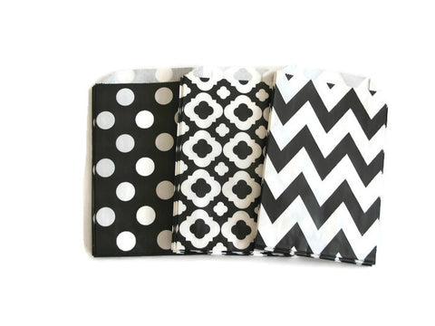 Black and White Party Favor Bags