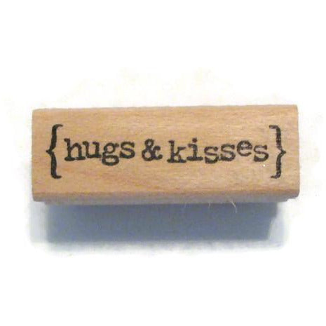 Hugs and Kisses Rubber Stamp