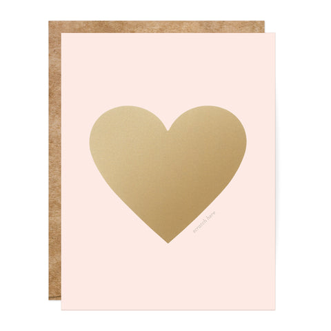 Pink and Gold Scratch-Off Heart Greeting Card