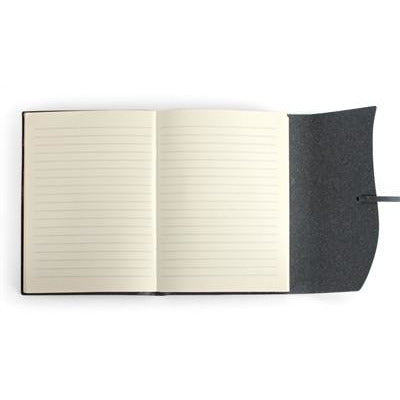 toscana black leather journal