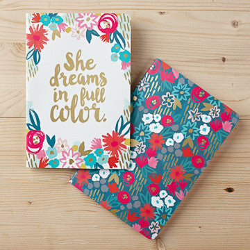 She Dreams in Full Color Notebook Set