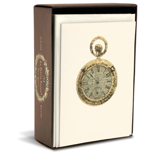 Pocket Watch Folded Notes