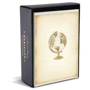 Heritage Globe Folded Notes