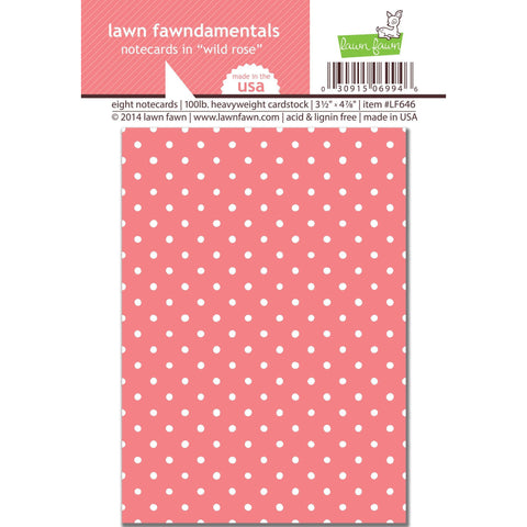 wild rose polka dot note cards