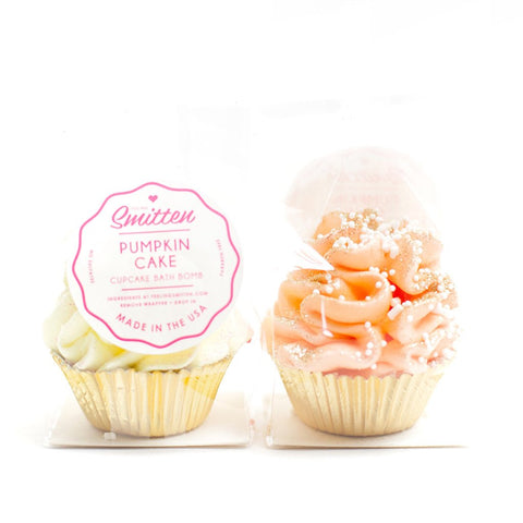 mini pumpkin cupcake bath bomb