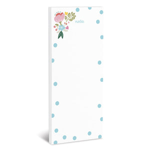 Floral and Dots Magnetic Notepad