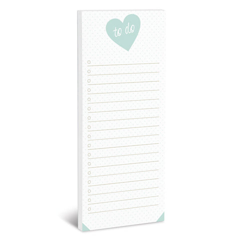 To Do Heart Magnetic Notepad