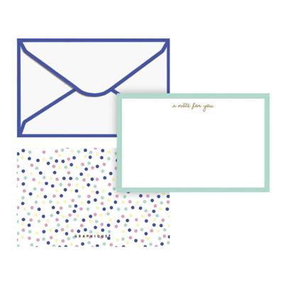 pastel dots flat note set