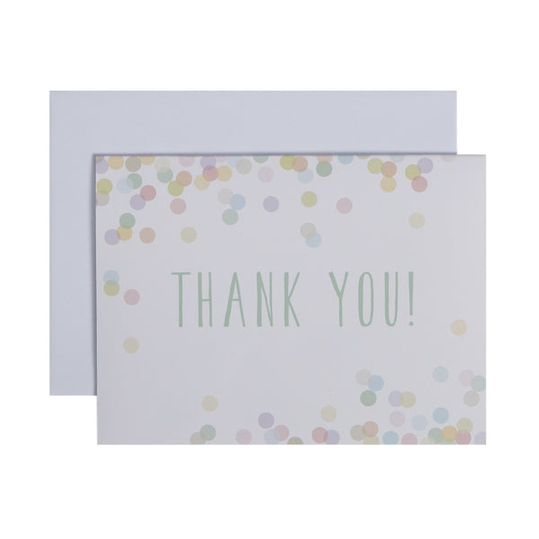 pastel confetti dot thank you notes