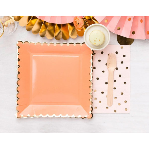 Coral Party Plates