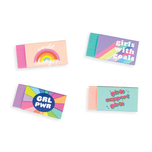 set of grl pwr erasers