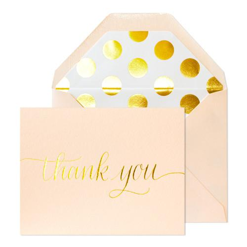 Blush Thank You Boxed Note Cards