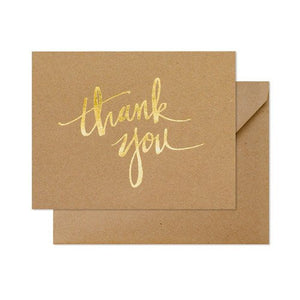 Kraft Scratchy Thank You Boxed Note Cards