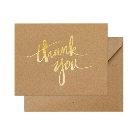 Kraft Scratchy Thank You Boxed Notes