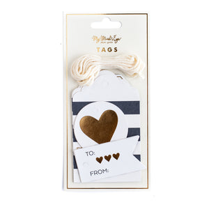 Black &  White Gift Tags