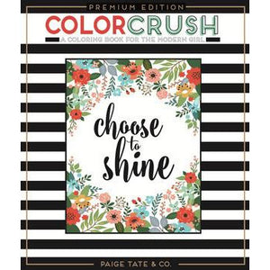 Color Crush Adult Coloring Book Premium Edition
