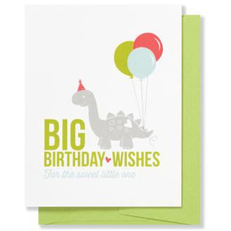 Dino Birthday Greeting Card