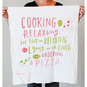 Cooking is Relaxing Kitchen Towel