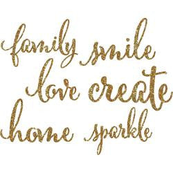 Gold Glitter Chunky Chipboard Words