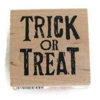 Trick or Treat Rubber Stamp