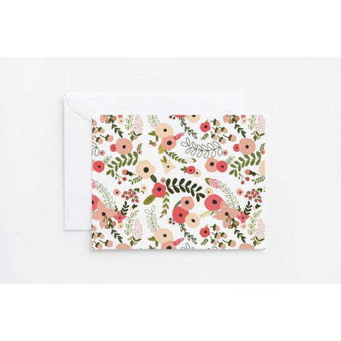 Blooming Wreath Note Card Set