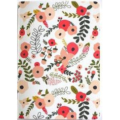 coral and blush floral pocket journal