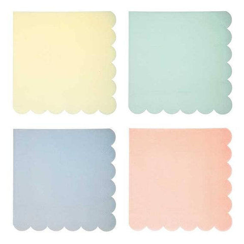 Assorted Pastel Napkins ~ Small