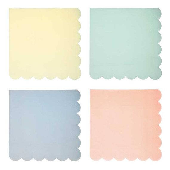 Toot Sweet Assorted Pastel Large Napkins