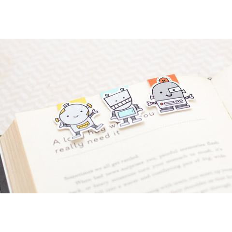 Robots Mini Magnetic Bookmarks
