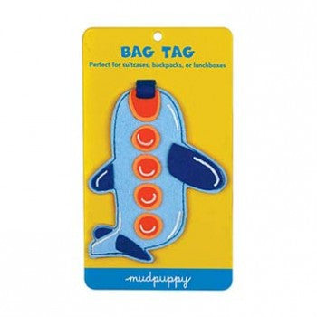 felt airplane bag tag for kids