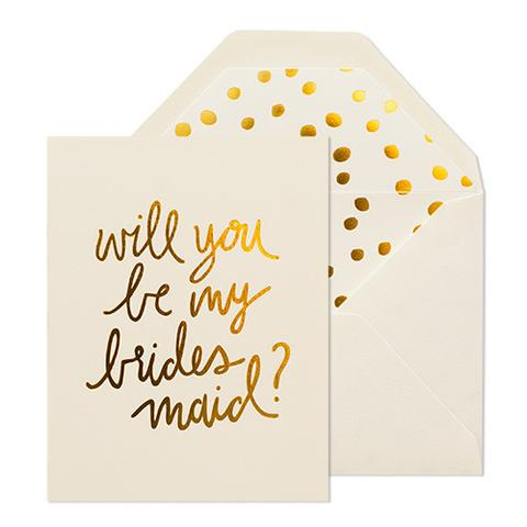 playful will you be my bridesmaid card