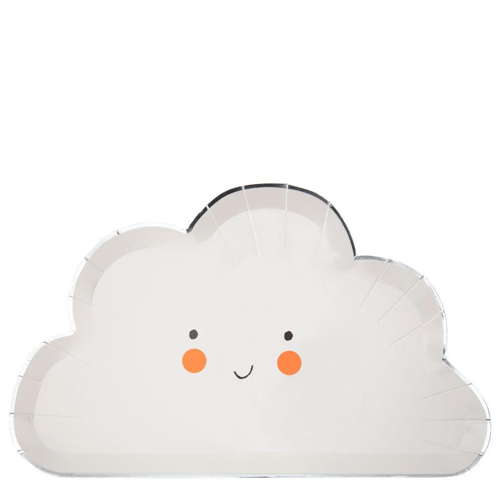 cloud shaped party plates