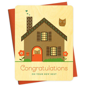 New Nest Wood Greeting Card