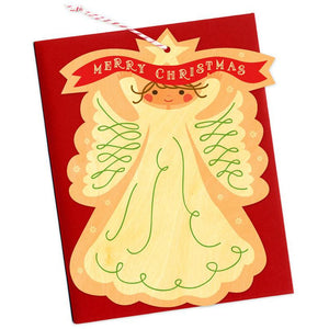 Angel Ornament Wood Greeting Card