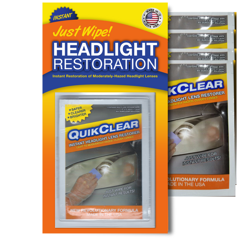 QuikClear Instant Headlight Restoration 4 pack