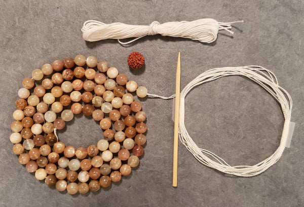 Balance Mala Kit - Sunstone/Moonstone