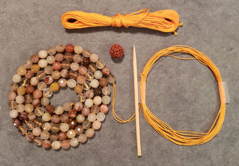 Energizing Mala Kit - Rutilated Quartz
