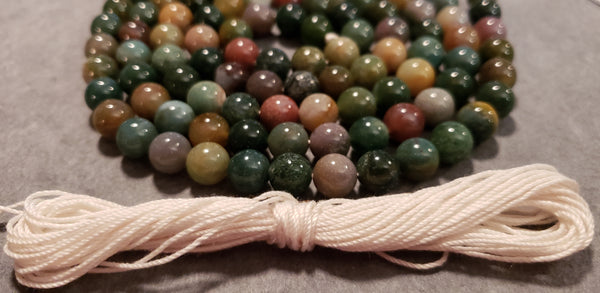 Nurturing and Empowerment Mala Kit -  Indian Agate Bloodstone