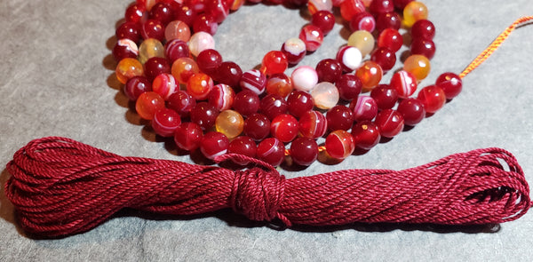 Power Mala Kit - Red Agate - Petite