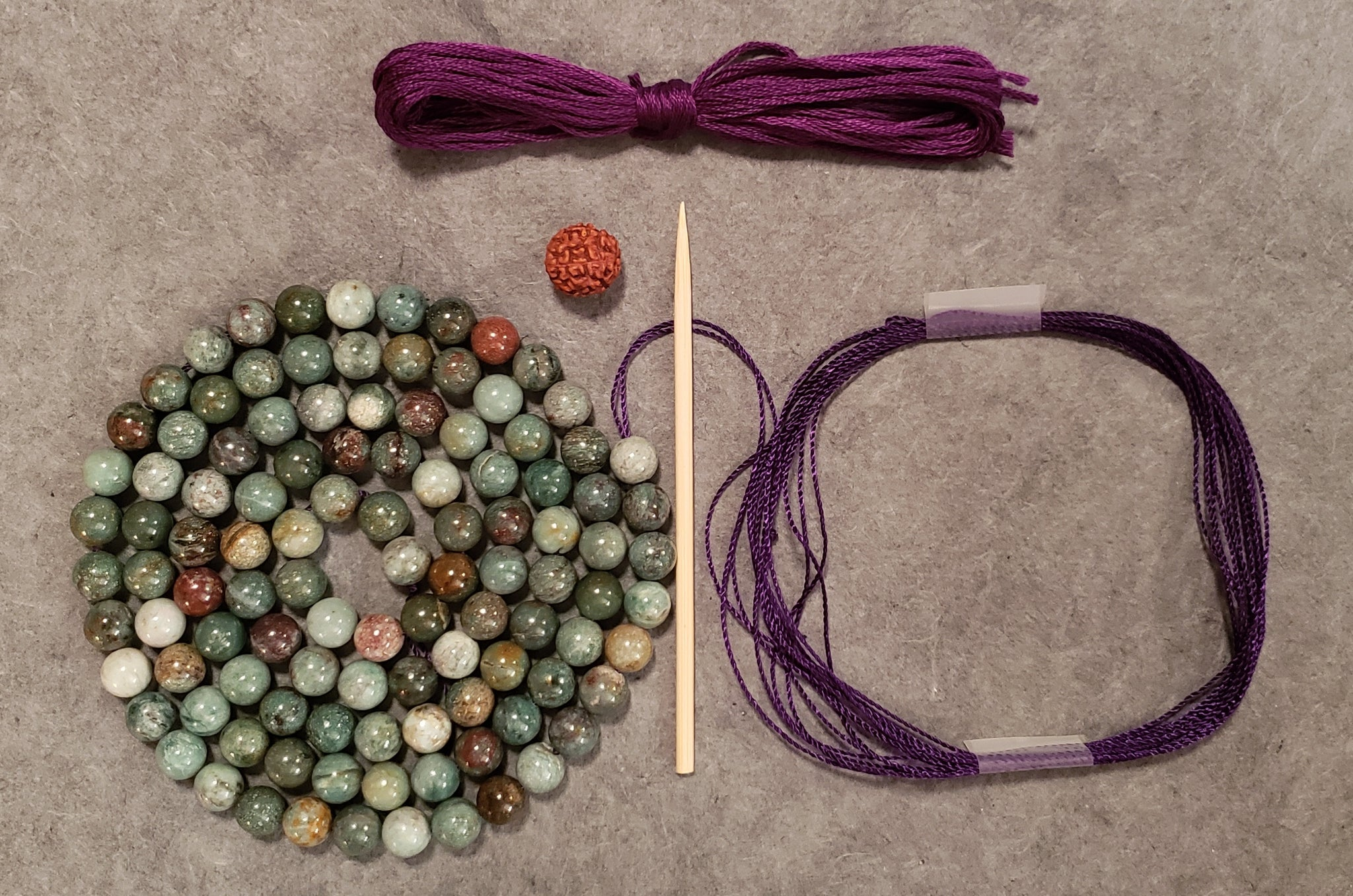 Expanding Mala Kit - Dragon Blood Jasper