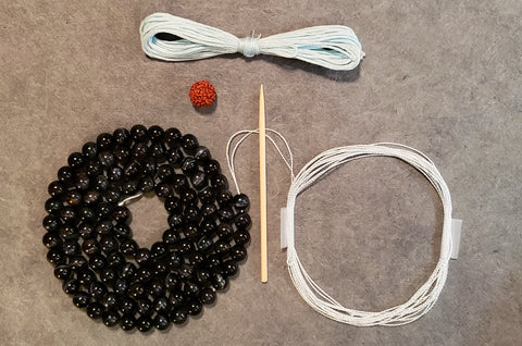 Flow Mala Kit - Blue Tiger Eye