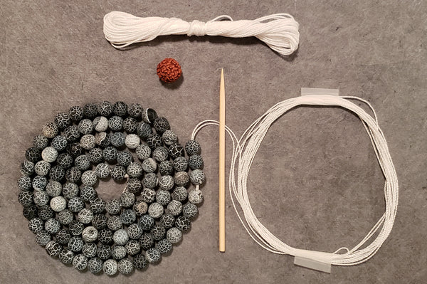Self Confidence Mala Kit - Cracked Agate