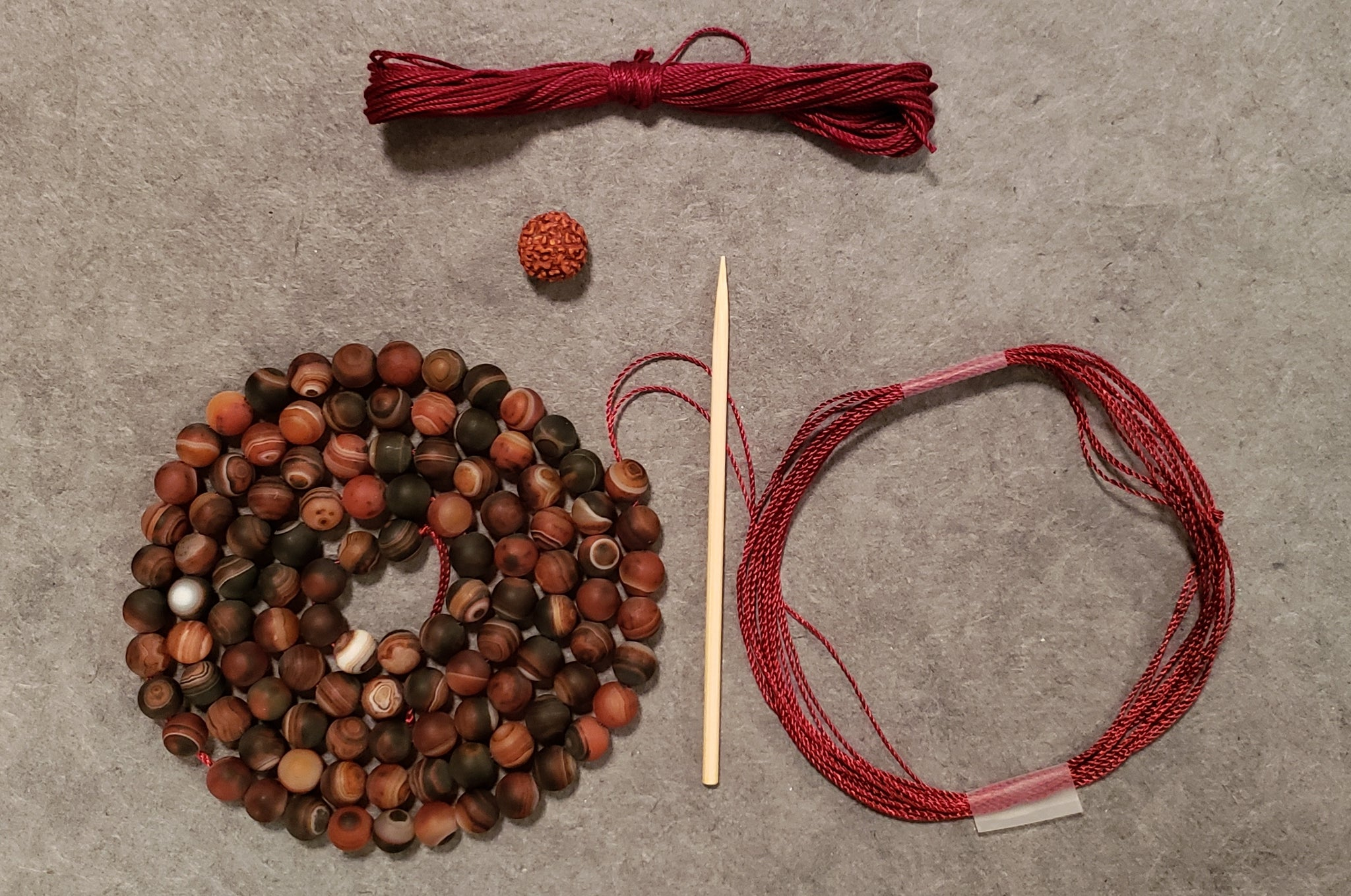 Power Mala Kit - Red Agate