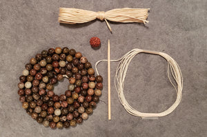 Alignment Mala Kit - Flower Jasper